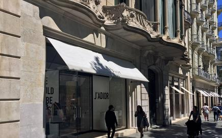 Greenwich Awning® for the Christian Dior Flagship Store in Barcelona