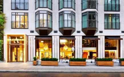 SQ2 Folding Arm Awning for Galvin restaurant at the Atheneaum Hotel