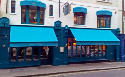 Hovarda, Greenwich Awning with bespoke umbrella canopies