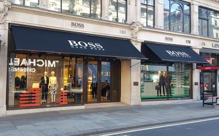 Victorian Awning® for Hugo Boss flagship store, Regent Street