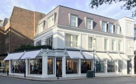 Greenwich® Awnings for Chanel store at Brompton Village, London