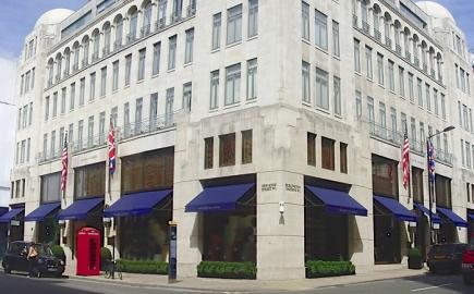 Shop awnings for Ralph Lauren Bond Street